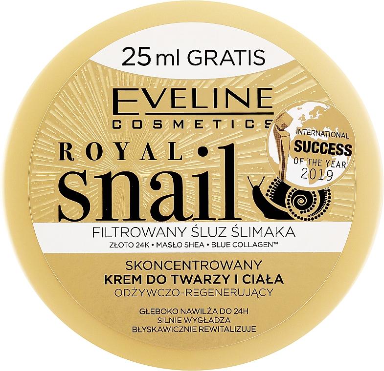 Крем за лице и тяло с екстракт от охлюв - Eveline Royal Snail