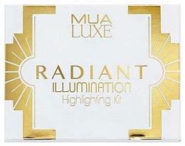 Парфюмерия и Козметика Палитра с хайлайтъри - MUA Luxe Radiant Illumination Highlighting Kit