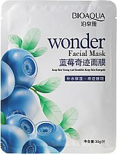"""Парфюми, Парфюмерия, козметика Маска за лице от плат """"Боровинка"""" - Bioaqua Wonder Facial Mask"""