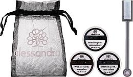 Парфюмерия и Козметика Комплект за нокти - Alessandro International Cat Eye Set (гел/5ml + гел/5ml + гел/5ml + магнит + торбичка)