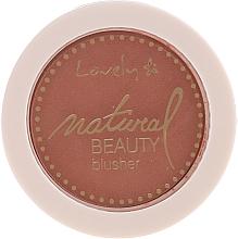 Парфюмерия и Козметика Компактен руж за лице - Lovely Natural Beauty Blusher