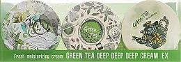 """Парфюмерия и Козметика Комплект кремове за лице """"Зелен чай"""" - SeaNtree Green Tea Deep Deep Deep Cream EX 3 in 1 Set-1 (h/cr/3x35g)"""