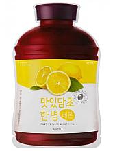 Парфюми, Парфюмерия, козметика Памучна маска за лице с екстракт от лимон - A'Pieu Fruit Vinegar Sheet Mask Lemon