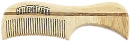 Парфюмерия и Козметика Гребен за мустаци от еко дърво, 7,5 см - Golden Beards Eco Moustache Comb