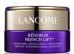 Парфюми, Парфюмерия, козметика Нощен стягащ крем с масажен диск - Lancome Renergie French Lift Night Duo Retightening Cream+Massage Disk