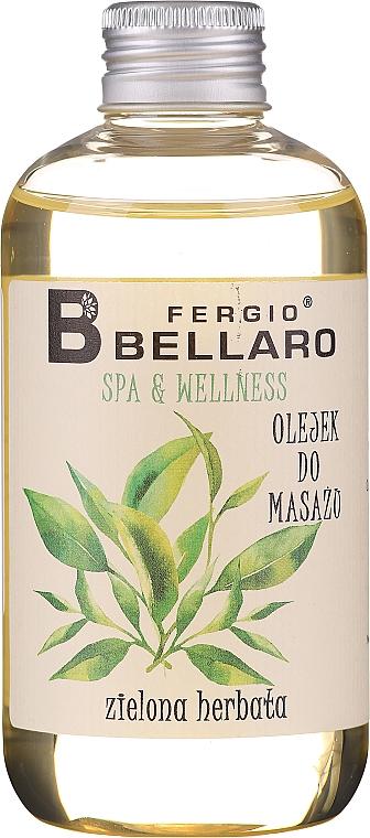 "Масажно масло ""Зелен чай"" - Fergio Bellaro Massage Oil Green Tea"