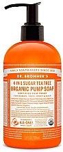 Парфюми, Парфюмерия, козметика Захарен течен сапун с чаено дърво - Dr. Bronner's Organic Sugar Soap Tea Tree