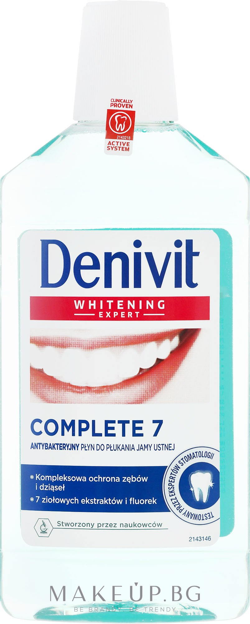 Антибактериална вода за уста - Denivit Whitening Expert Complete 7 Mouthwash — снимка 500 ml