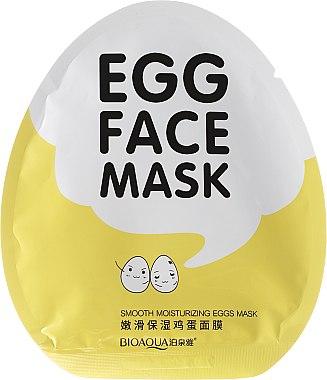 Памучна маска за лице с яйчен жълтък - Bioaqua Egg Face Mask