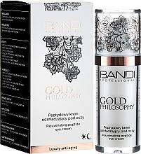 Парфюмерия и Козметика Околоочен крем с пептиден комплекс - Bandi Professional Gold Philosophy Rejuvenating Peptide Eye Cream
