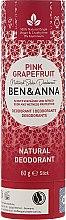 Парфюми, Парфюмерия, козметика Дезодорант на базата на сода с аромат на розов грейпфрут - Ben & Anna Natural Soda Deodorant Paper Tube Pink Grapefruit