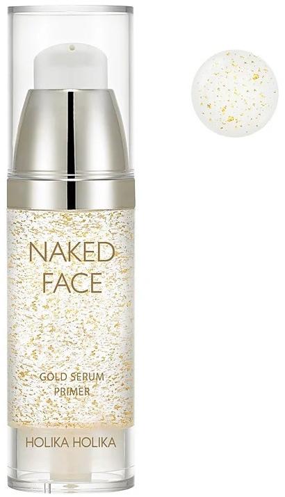 Праймър-серум за сияйна кожа - Holika Holika Naked Face Gold Serum Primer