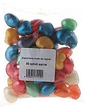 Парфюмерия и Козметика Етерични масла за вана, разноцветни сърчица - Salus International