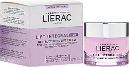 Парфюмерия и Козметика Нощен реструктуриращ лифтинг крем за лице - Lierac Lift Integral Night Restructuring Lift Cream
