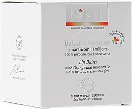 Парфюмерия и Козметика Балсам за устни с портокалов цвят и безсмъртниче - Nikel Lip Balm