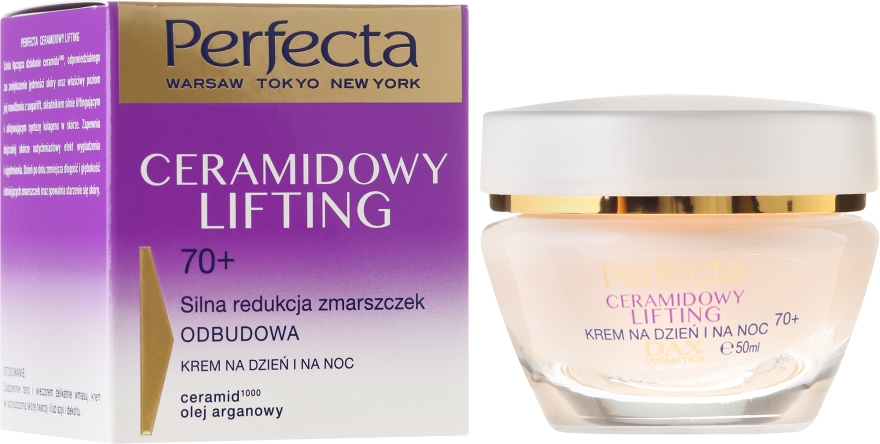 Антистареещ крем за лице - Perfecta Ceramid Lift 70+ Face Cream — снимка N1