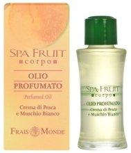 Парфюмерия и Козметика Frais Monde Spa Fruit Peach And White Musk Perfumed Oil - Парфюмно масло