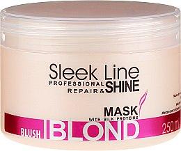 Парфюмерия и Козметика Маска за руса коса, придаваща розов нюанс - Stapiz Sleek Line Blush Blond Mask