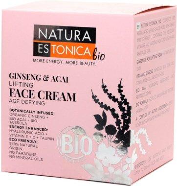 Стягащ крем за лице с женшен и акай бери - Natura Estonica Ginseng & Acai Face Cream — снимка N2