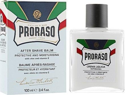 Балсам за след бръснене с алое вера и витамин Е - Proraso Blue Line After Shave Balm — снимка N1
