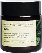 Парфюми, Парфюмерия, козметика Натурална соева свещ с аромат на розмарин, босилек и матичина - Mood Ideas Focus Candle
