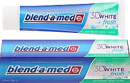 "Парфюми, Парфюмерия, козметика Паста за зъби ""Ментова целувка"" - Blend-a-med 3D White Fresh Extreme Mint Kiss Toothpaste"