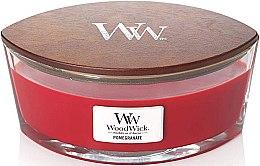 Парфюмерия и Козметика Ароматна свещ в чаша - Woodwick Candle Ellipse Jar Pomegranate