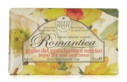 """Парфюми, Парфюмерия, козметика Сапун """"Лилия и нарцис"""" - Nesti Dante Romantica Tuscan Lily&Narcissus Soap"""