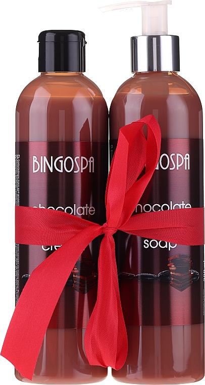 Комплект за тяло - BingoSpa Chocolate (душ гел/300ml + сапун/300ml) — снимка N1