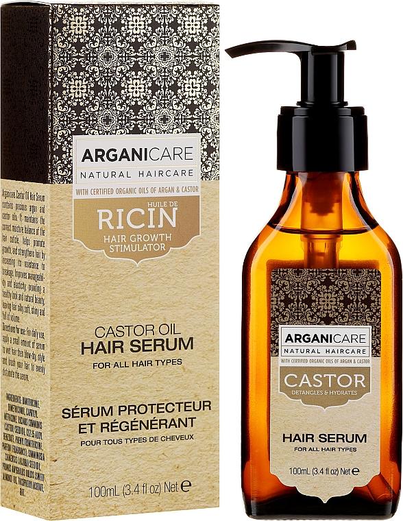 Серум за растеж на косата - Arganicare Castor Oil Hair Serum — снимка N1
