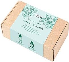 Парфюмерия и Козметика Комплект маска и пилинг за лице - Veoli Botanica Ritual Box Make It Glow