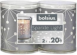 Парфюмерия и Козметика Комплект свещи в чаша - Bolsius Sparkle Lights Crystal Silver Candle