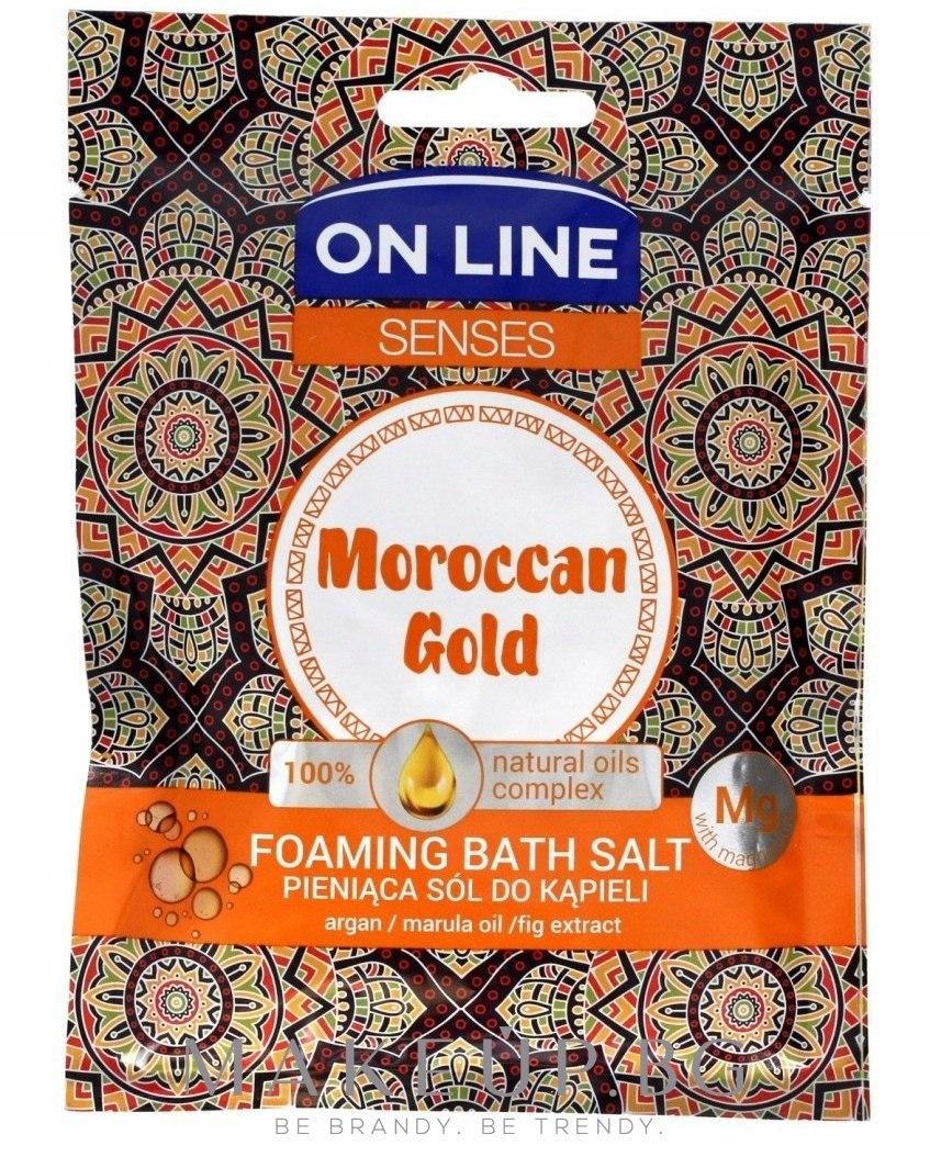 Соли за вана - On Line Senses Bath Salt Moroccan Gold — снимка 80 g