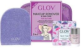 Парфюмерия и Козметика Комплект - Glov Expert Travel Set Oily and Mixed Skin (glove/mini/1pcs + glove/1pcs + stick/40g)