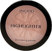 Парфюмерия и Козметика Ingrid Cosmetics HD Beauty Innovation Shimmer Powder - Изсветляваща компактна пудра