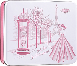 Комплект - Institut Karite Rose Mademoiselle (сапун/100g + крем/30ml + масло/10ml + свещ/1 бр. + конф. + кутия) — снимка N1