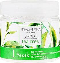 Парфюми, Парфюмерия, козметика Почистваща сол за вана за ръце и крака с екстракт от чаено дърво - IBD Tea Tree Purify Pedi Spa Soak