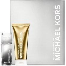 Парфюмерия и Козметика Michael Kors White Luminous Gold - Комплект (edp/50ml + b/l/100ml)
