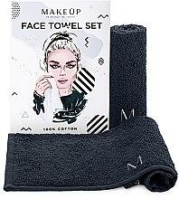 """Парфюмерия и Козметика Комплект кърпи за лице в черен цвят """"MakeTravel"""" - Makeup Face Towel Set"""