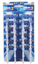 Парфюми, Парфюмерия, козметика Комплект с еднократни самобръсначки, 24 бр - Gillette Blue 3