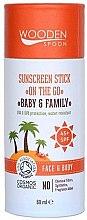 Парфюмерия и Козметика Слънцезащитен стик - Wooden Spoon Sunscreen Stick On The Go SPF 45
