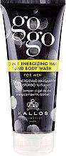Парфюми, Парфюмерия, козметика Шампоан-душ гел за мъже - Kallos Cosmetics Go-Go 2-in-1 Energizing Hair And Body Wash For Men