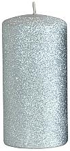 Парфюмерия и Козметика Декоративна свещ, сребриста, 7x18 см - Artman Glamour
