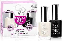 Парфюми, Парфюмерия, козметика Двоен комплект гел лак и топ лак - Golden Rose Prodigy Gel Duo
