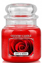 Парфюми, Парфюмерия, козметика Ароматна свещ - Country Candle Love & Roses