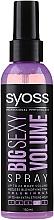 Парфюмерия и Козметика Спрей за оформяне на коса - Syoss Big Sexy Volume Blow Dry Spray