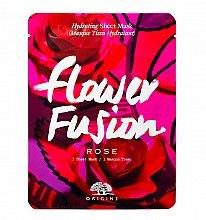 Парфюмерия и Козметика Подхранваща маска за лице с екстракт от роза - Origins Flower Fusion Rose Hydrating Sheet Mask
