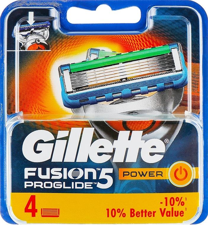 Сменяеми ножчета за бръснене, 4 бр. - Gillette Fusion ProGlide Power