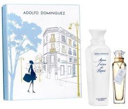 Парфюми, Парфюмерия, козметика Adolfo Dominguez Agua Fresca de Rosas - Комплект (edt/120ml + body lotion/300ml)