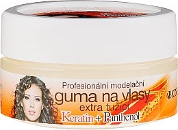 Парфюми, Парфюмерия, козметика Восък за коса - Bione Cosmetics Keratin + Panthenol Professional Extra Strong Sculpting Rubber